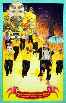 GREAT MARDI GRAS BANDS Print by Jim Wainwright
